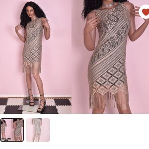 90's Crochet Lace Dress